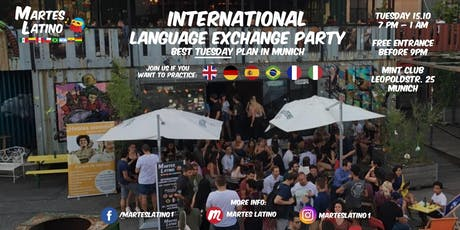Martes Latino: FREE language exchange and party with native speakers in Mun Tickets