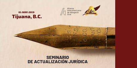 Seminario de Actualización Jurídica tickets