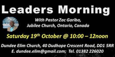 Leaders Morning with Zac Gariba