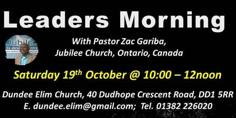 Leaders Morning with Zac Gariba tickets