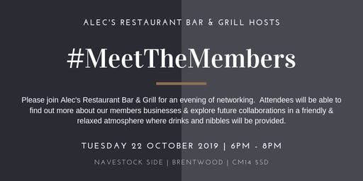 Meet the Members October 2019 Hosted by Alec's Restaurant Bar & Grill