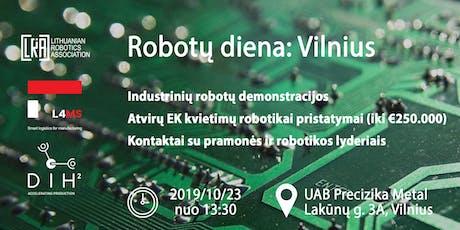 Robotų diena: Vilnius tickets