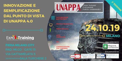 INNOVAZIONE E SEMPLIFICAZIONE DAL PUNTO DI VISTA UNAPPA 4.0 | 2° EDIZIONE