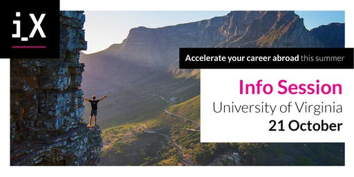 Accelerate Your Career Abroad This Summer – iXperience Info Session @UVA 2019