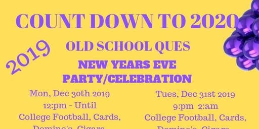 OLD SCHOOL QUES NEW YEAR'S EVE PARTY