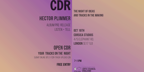 CDR with Hector Plimmer (Album Pre-release Listen and Tell) tickets