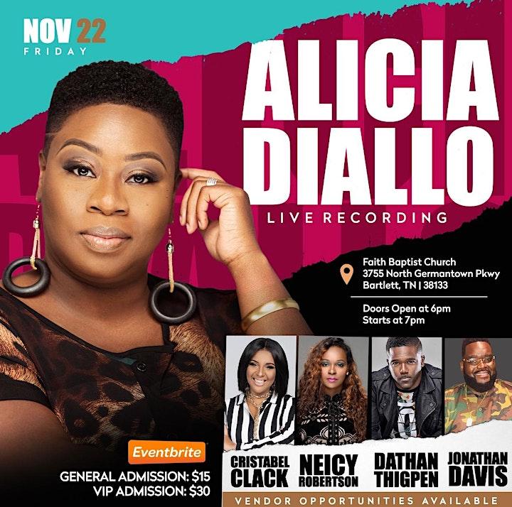 """Alicia Diallo: Live Recording  """"The Sound of Deliverance"""" image"""