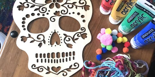 Halloween Skull Dreamcatcher workshop with Aimee from Gracefully Boho