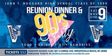JTH Class of 1999 Reunion Dinner and Party tickets