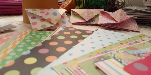 Origami Seed Packet Making at Food Is Free Green Space with Leigh