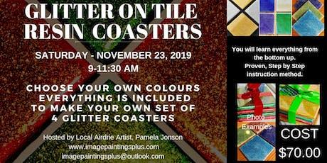 Glitter on Tile Coasters Workshop tickets