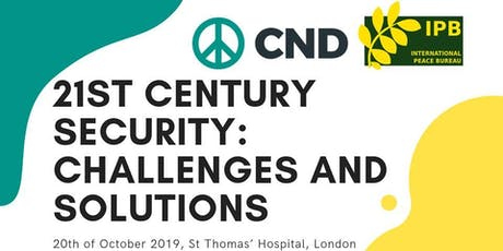 21st Century Security: challenges and solutions tickets