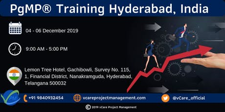 PgMP   Program Management Training   Hyderabad   December   2019 tickets