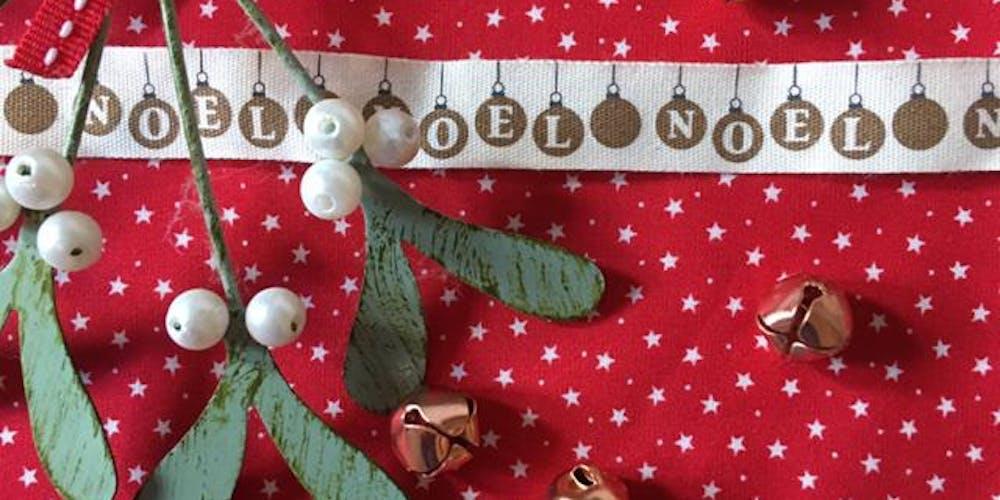 Making Christmas Stocking.Christmas Stocking Making