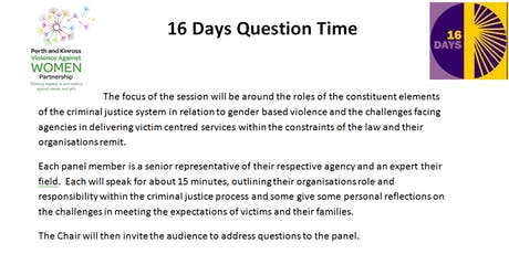 16 Days Question Time tickets