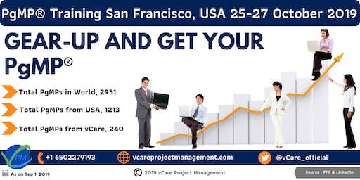PgMP   Program Management Training   San Francisco   October   2019