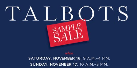 Talbots Sample Sale tickets