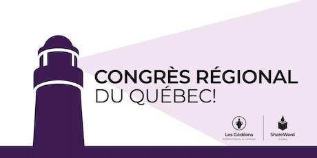Congrès régional du Québec 2019 billets