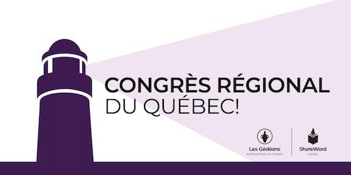 Congrès régional du Québec 2019
