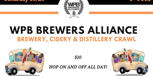 WPB Brewery, Cidery & Distillery Crawl (9 locations via Trolleys)