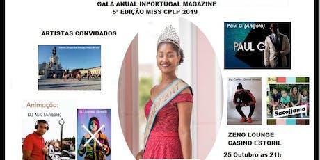 Gala Miss CPLP 2019 Casino Estoril bilhetes