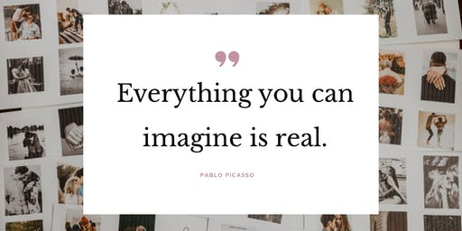 "Der ""Everything you can imagine is real!"" VISION BOARD Workshop"