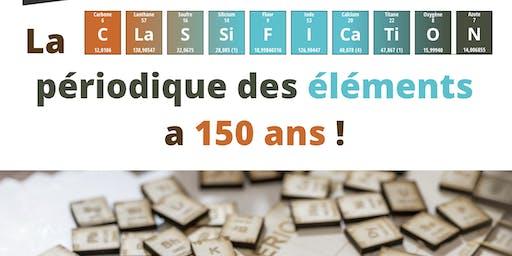 Visite commentée de l'exposition « La classification périodique des éléments a 150 ans »