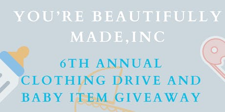 CLOTHING DRIVE & BABY ITEM GIVEAWAY tickets