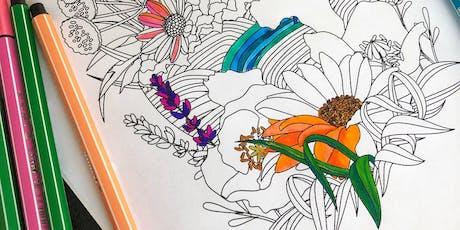 Atelier coloriage à encadrer (adultes et enfants à partir de 8 ans) billets