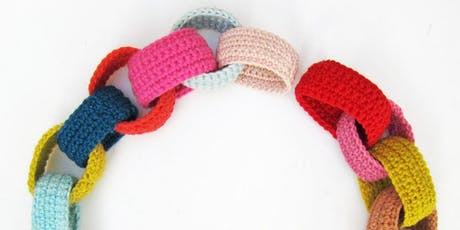 Never Lifted a Crochet Hook | Crocheted Paper Chains tickets