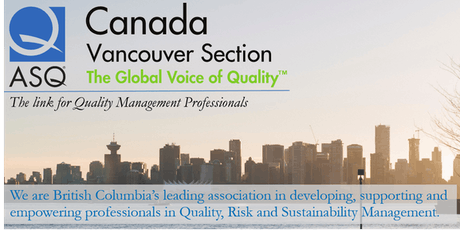 ASQ Vancouver Annual General Meeting (AGM) 2019 tickets