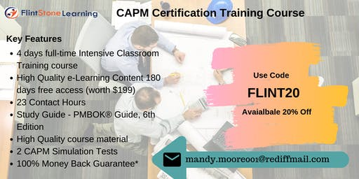 CAPM Bootcamp Training in Redding, CA