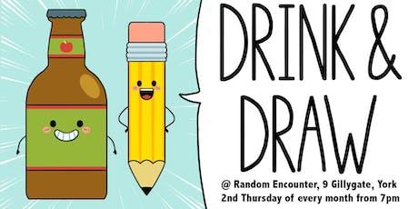 Drink & Draw at Random Encounter tickets