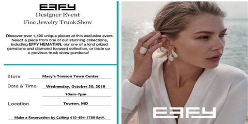 Effy Trunk Show at Macy's Towson