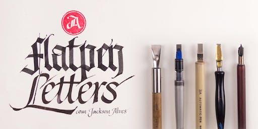 Flat pen Letters Workshop, Oficina de caligrafia - Rio de Janeiro