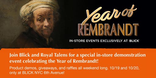 BLICK 6th Ave PRESENTS: THE YEAR OF REMBRANDT - Demo Event