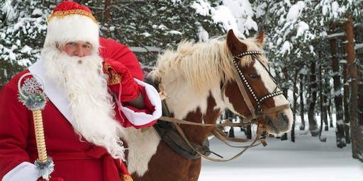 Photos with Santa and his helper, Peeps Pony
