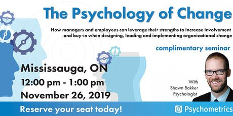 The Psychology of Change - Mississauga tickets