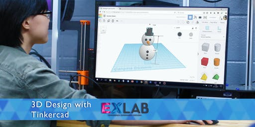3D Design with Tinkercad - EXLAB - Atlanta