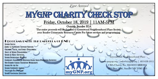 MyGNP Charity Check Stop