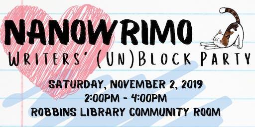Nanowrimo Writers' (Un)Block Party