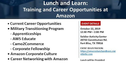 Lunch and Learn: Training and Career Opportunities at Amazon