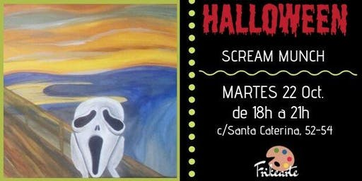 FRIKEARTE BCN: Pinta SCREAM MUNCH - Especial Hallowen