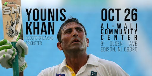 Younis Khan, Record-Breaking Cricketer - A Benefit Dinner for Charity (NJ)