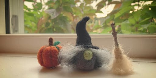 Adorable Felted Witch with Følte Fiber Arts