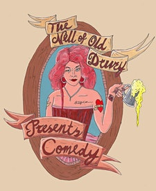 Nell of Old Drury Presents Comedy. logo