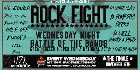 Rock Fight Wednesday Battle of the Bands at BHouse LIVE tickets