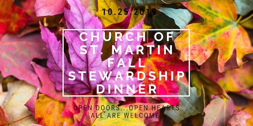 Church of St. Martin Fall 2019 Stewardship Dinner