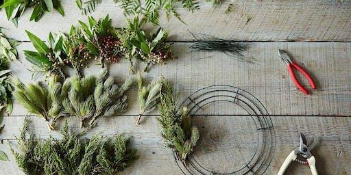 Fragrant Greenery + Herb Wreath