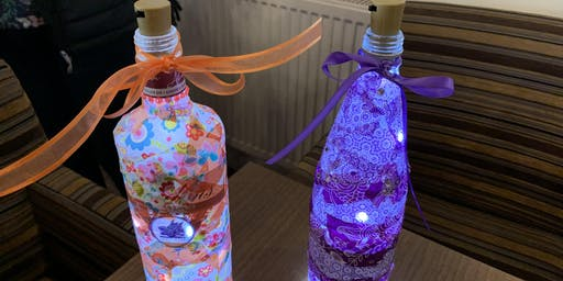 Christmas Deco-patch bottle with LED lights
